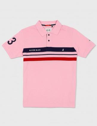 River Blue light pink stripe t-shirt