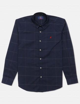 River Blue navy checks shirt