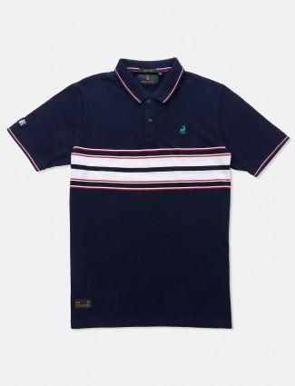 River Blue presented navy stripe t-shirt