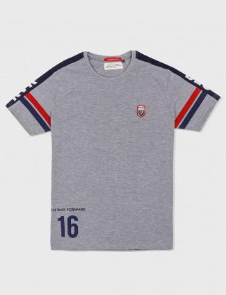 River Blue solid grey hued t-shirt