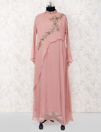 Rose pink party wear designer salwar suit