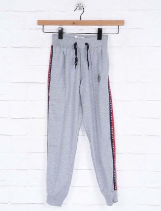 Ruff cotton fabric grey hued solid payjama