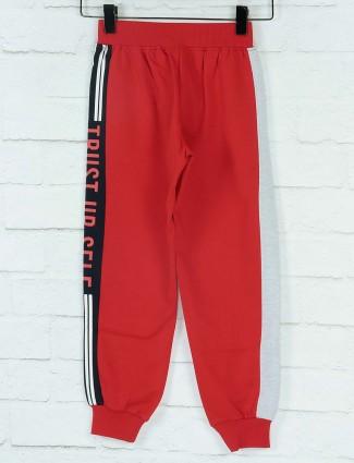Ruff cotton fabric red color payjama