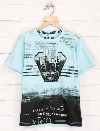 Ruff printed boys light blue t-shirt