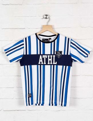 Ruff royal blue stripe pattern t-shirt