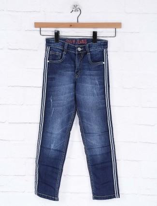 Ruff simple slim fit blue hued jeans