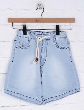 Ruff sky blue colored casual wear short