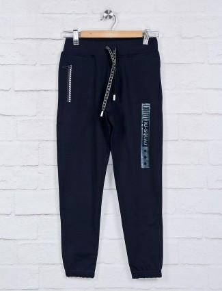 Ruff solid cotton navy payjama
