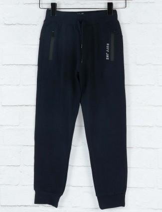 Ruff solid navy cotton fabric payjama