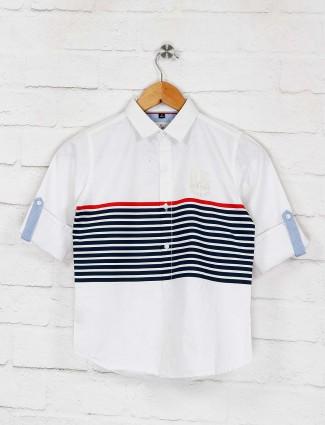 Ruff stripe white color shirt