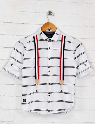 Ruff white stripe pattern boys shirt