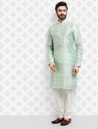 Sea green cotton designer cotton kurta suit
