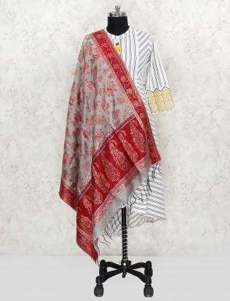 Sea green dupatta in pashmina silk fabric