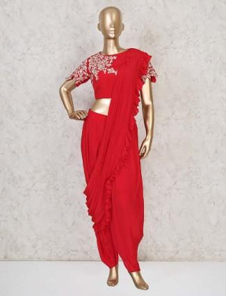 Silk dhotis style salwar kameez for festivals