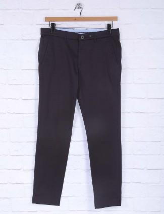 Six Element black simple cotton trouser