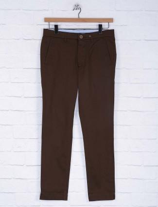 Six Element brown color cotton trouser