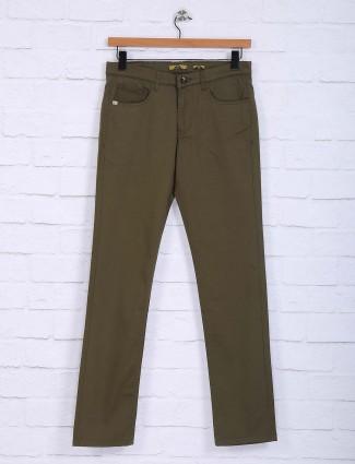 Sixth Element olive slim fit trouser