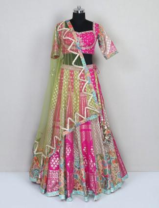 Special magenta silk wedding wear lehenga choli