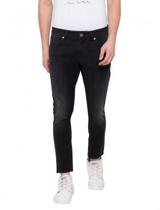 Spykar presented solid black jeans