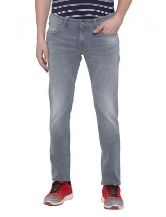 Spykar skinny fit grey solid jeans