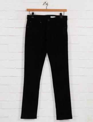 Spykar solid black slim fit jeans
