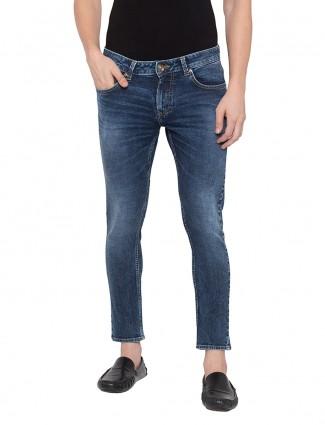 Spykar solid blue slim fit jeans