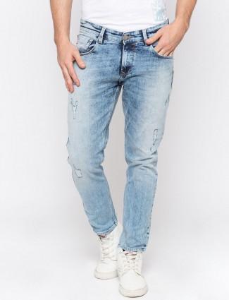 Spykar washed light blue hue jeans