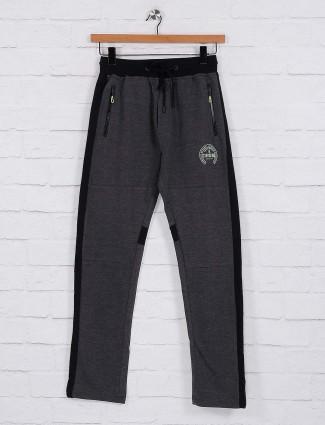 Status Quo cotton fabric dark grey track pant