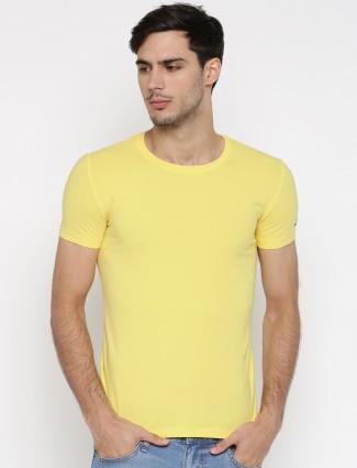 Status Quo cotton yellow t-shirt