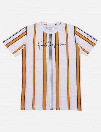 Status Quo mustard yellow stripe t-shirt