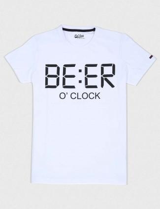 Status Quo printed white cotton t-shirt