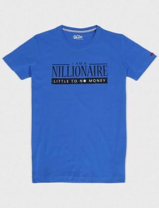 Status Quo royal blue cotton fabric t-shirt