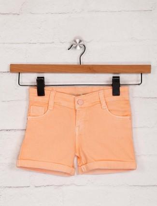 桃红色Stilomoda牛仔休闲短裤