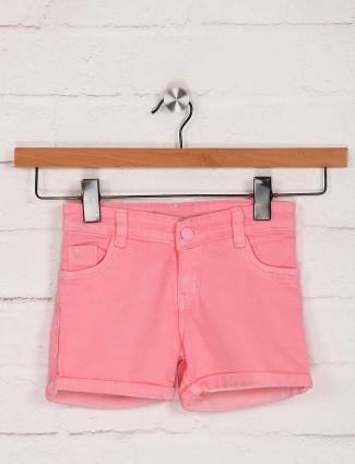 Stilomoda固体粉色牛仔短裤