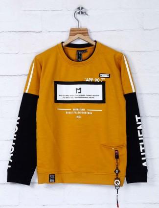 Sturd mustard yellow round neck t-shirt