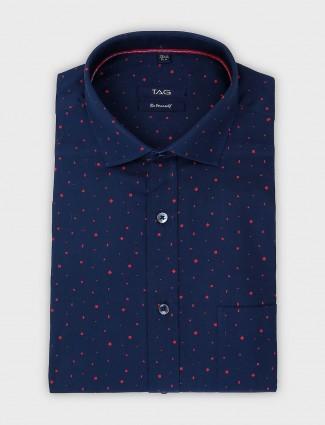 TAG formal navy color printed shirt