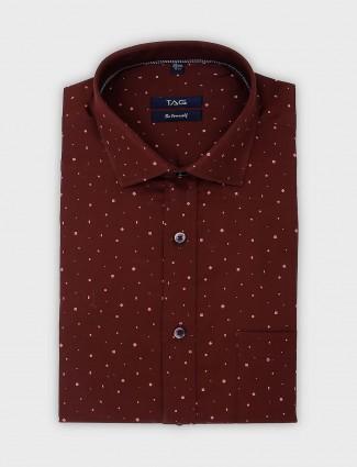 TAG presented brown printed shirt