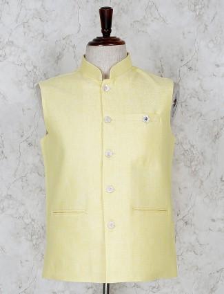 Terry rayon fabric yellow hue waistcoat