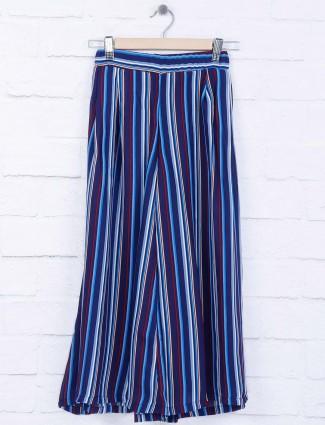 Tiny Girl blue stripe cotton fabric palazzo