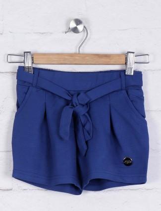 TinyGirl blue hue cotton shorts