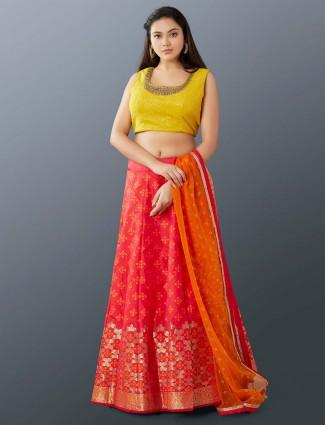 Trendy magenta silk designer lehenga choli