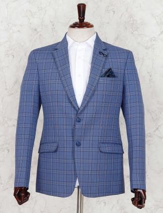 Tweed pattern sky blue hue blazer