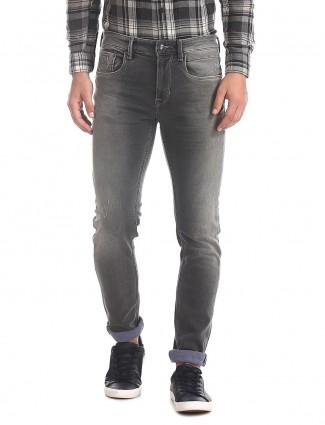 U S Polo Assn grey slim fit sober jeans