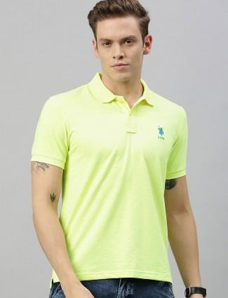 U S Polo Assn light green solid t-shirt