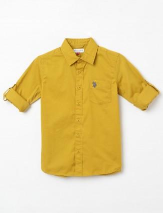 U S Polo Assn mustard solid shirt