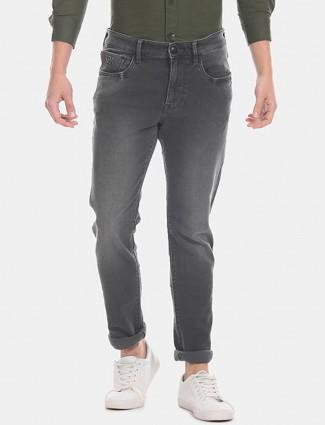 美国Polo Assn深灰色锥形修身牛仔裤