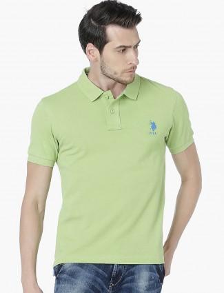 U S Polo Assn solid light green t-shirt
