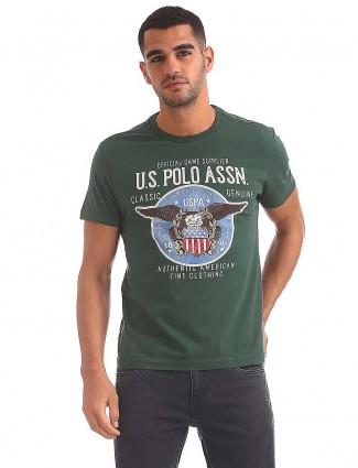 美国Polo绿色休闲服T恤