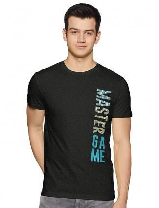 UCB黑色印花棉质T恤