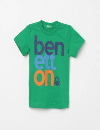 UCB green printed boys t-shirt